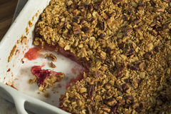 Homemade Cranberry Apple Cobbler Crumble. Ready to Eat royalty free stock images