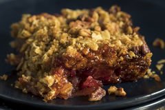 Homemade Cranberry Apple Cobbler Crumble. Ready to Eat stock images