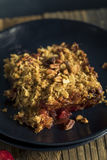 Homemade Cranberry Apple Cobbler Crumble. Ready to Eat stock photography