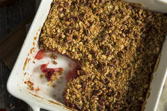 Homemade Cranberry Apple Cobbler Crumble. Ready to Eat stock photos