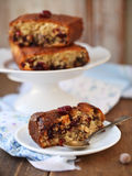 Homemade cranberry cake with hazelnuts Stock Image