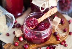 Homemade cranberry jam Stock Image