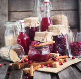 Homemade cranberry jam Royalty Free Stock Image