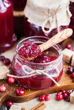 Homemade cranberry jam Royalty Free Stock Photography