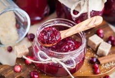 Homemade cranberry jam Stock Images