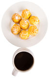 Homemade Cream Puff and Coffee VII Royalty Free Stock Photo