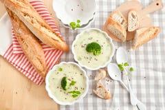 Homemade creamy broccoli soup Stock Images