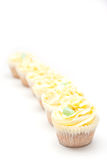 Homemade creamy luxury cup cakes Royalty Free Stock Photography