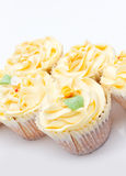 Homemade creamy luxury cup cakes Stock Images