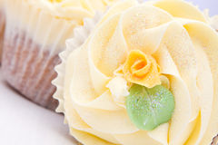 Homemade creamy luxury cup cakes Stock Image