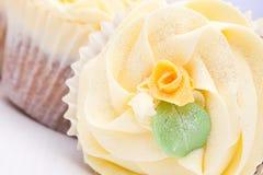 Homemade creamy luxury cup cakes Stock Image