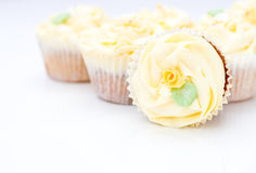 Homemade creamy luxury cup cakes Royalty Free Stock Photo