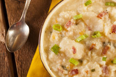 Homemade Creamy Potato Soup Royalty Free Stock Photo