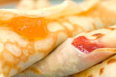 Homemade Crepes With Marmalade Filling Royalty Free Stock Photography