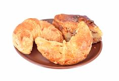 Homemade crescent roll with nut Royalty Free Stock Photo