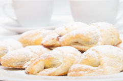 Homemade crescent rolls Stock Images