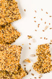 Homemade crisp bread with seeds Stock Image