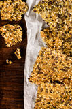 Homemade crisp bread with seeds stock photography
