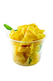 Homemade Crispy Banana Chips Royalty Free Stock Images