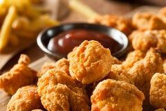 Homemade Crispy Popcorn Chicken Stock Images