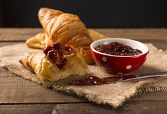 Homemade croissant Stock Photos