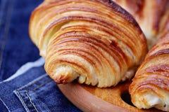 Homemade croissant Stock Image