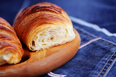 Homemade croissant Royalty Free Stock Image