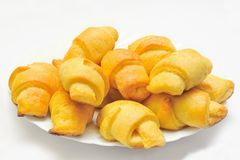 Homemade croissant Stock Photo