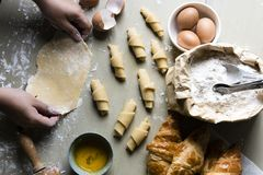 Homemade croissants food photography recipe royalty free stock images