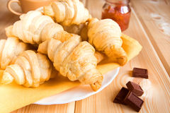 Homemade croissants Stock Image