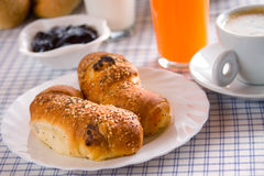 Homemade croissants served for breakfast Stock Photography