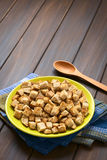 Homemade Croutons Royalty Free Stock Photography
