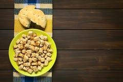 Homemade Croutons Stock Photo