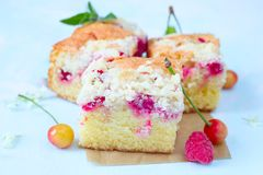 Berry crumb cake royalty free stock images