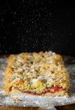 Homemade crumble cherry cake Stock Images