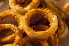 Homemade Crunchy Fried Onion Rings Stock Photo