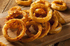 Homemade Crunchy Fried Onion Rings. With Ketchup Stock Image