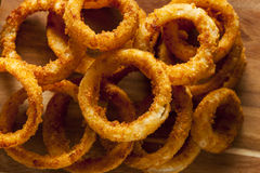 Homemade Crunchy Fried Onion Rings Stock Images