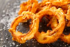Homemade crunchy fried onion rings Royalty Free Stock Image