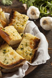 Homemade Crunchy Garlic Bread Royalty Free Stock Photos
