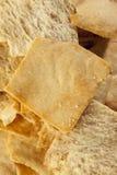 Homemade Crunchy Pita Chips Stock Photo