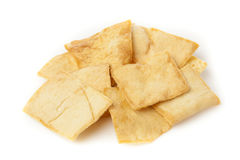 Homemade Crunchy Pita Chips Royalty Free Stock Image