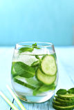 Homemade cucumber and mint lemonade. Stock Image