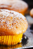 Homemade cupcake after baking royalty free stock images