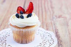 Homemade Cupcake with Fruits Royalty Free Stock Image