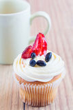 Homemade Cupcake with Fruits Royalty Free Stock Photos