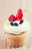 Homemade Cupcake with Fruits Royalty Free Stock Photography