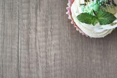 Homemade cupcake royalty free stock image