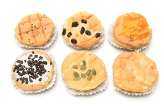 Homemade cupcake variety of different flavors Royalty Free Stock Photos