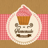 Homemade cupcake, vector Stock Photo
